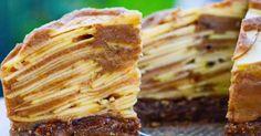 recept na Jablečný nepečený koláč (Raw) z 5 ingrediencí
