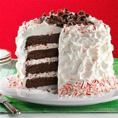 Fudgy Peppermint Stick Torte Recipe from Taste of Home -- shared by Mary Shivers of Ada, Oklahoma