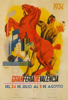 Cartel Gran Feria de Julio de Valencia 1934. Diseño: Josep Renau.
