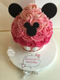 Pink mickey giant cupcake
