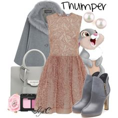 Thumper - Disney's Bambi by rubytyra on Polyvore featuring polyvore, fashion, style, RED Valentino, Harrods, Rupert Sanderson, Balenciaga, Majorica, Oscar de la Renta, NARS Cosmetics, Thumper, disney, disneybound and bambi