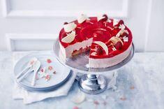 Vadelmajuustokakku 20 Min, Panna Cotta, Cheesecake, Sweets, Homemade, Baking, Ethnic Recipes, Food, Colours