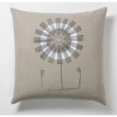 three sheets 2 the wind Daisy Flower Square Pillow at DesignPublic.com
