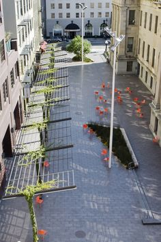 Mint Plaza in San Franscico//CMG Landscape Architecture