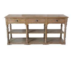 Oscar Console Table - Natural Oak - Milan Direct