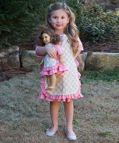 Lilli Lovebird Green Floral Alyssa Apron & Apron for 18 Doll | zulily