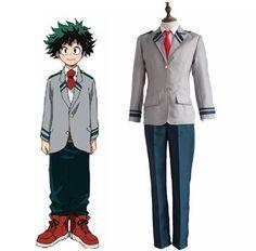 Boku no Hero Academia / My Hero Academia Cosplay Costume Midoriya Izuku / Bakugou Katsuki School Uniform ( Jacket + Pants + Tie)