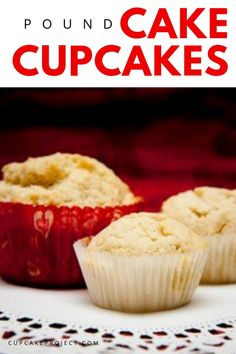 What we love about cupcakes is that we can be very creative in decorating them. These pound cake cupcakes can be served with whatever topping you have in mind. Enjoy making them with your kids on Valentine's day for a lovely bonding to celebrate love! Bite Size Desserts, Desserts For A Crowd, Winter Desserts, Fancy Desserts, Delicious Desserts, Dessert Recipes, Pound Cake Cupcakes, Pound Cake Recipes, Cupcake Cakes