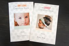 #free #printable for #grandparentsday It has just 12 pages but together they keep Grandma updated on all the big and little moments in your kid's life. (Psst! The kids will love contributing to the drawing and handprint pages.)