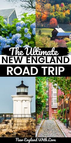 Six beautiful states. One amazing road trip. This mega, ultimate New England road trip itinerary will help you visit all of the top spots throughout the region. With variations in length and itinerary. #NewEngland #RoadTrip #NewEnglandTravel #USATravel Best Road Trip Songs, Us Road Trip, Road Trip Hacks, New England Day Trips, New England Travel, Best Travel Guides, Travel Tips, European Road Trip, Road Trip Planner