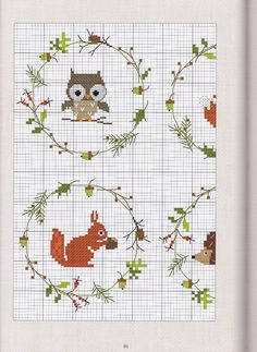 woodland creatures x stitch charts
