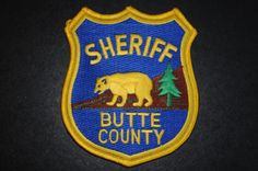 Butte County Sheriff Patch, California (Vintage)