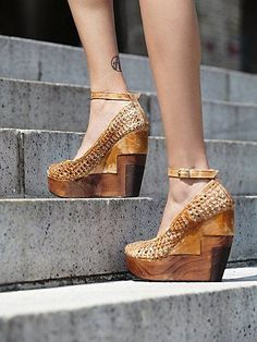 Free People Stateside Woven Wedge forced to admit I kind of like these