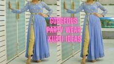 30 + Party Wear Kurti Designs | Most Beautiful Easy To Make Kurti Design... Party Wear Indian Dresses, 30th Party, Kurti, Most Beautiful, How To Make, How To Wear, Easy, Design