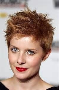 natural red short hairstyles for women, spiky short hair, youth look