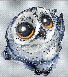 Cross Stitch Owl, Cross Stitch Animals, Counted Cross Stitch Patterns, Cross Stitch Designs, Cross Stitching, Needlepoint Patterns, Bird Patterns, Owl Knitting Pattern, Pixel Art Templates