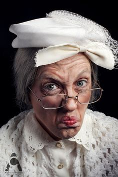 Halloween makeup  Old Lady by amandachapmanphotography, via Flickr