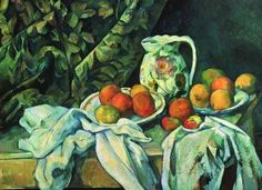 Paul CezanneStill Life With A Curtain1898 Oil Painting 20x28 Inch  51x70 Cm printed On Perfect Effect Canvas this High Resolution Art Decorative Prints On Canvas Is Perfectly Suitalbe For Bathroom Decor And Home Artwork And Gifts
