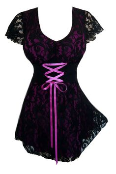 Plus Size Berry and Black Lace Sweetheart Corset Top [SC09BE] - $41.99 : Mystic Crypt, the most unique, hard to find items at ghoulishly great prices!