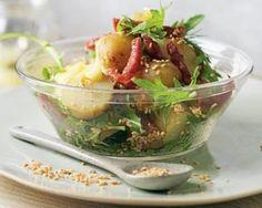 Salami and sesame new potato salad recipe - image copyright Ryland Peters