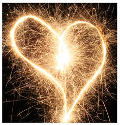 sparkler hearts for valentines day