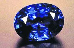 THE SAPPHIRE OF ST EDWARD, 167 carats.  It sits in the center of the upper cross of  Britain\'s Imperial State Crown.