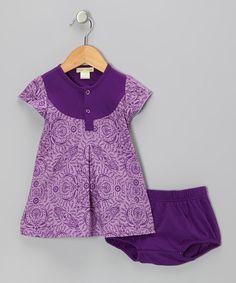 Purple Parlor Organic Dress & Diaper Cover - Infant & Toddler
