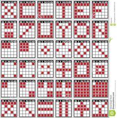 bingo patterns stock photography image 5834182