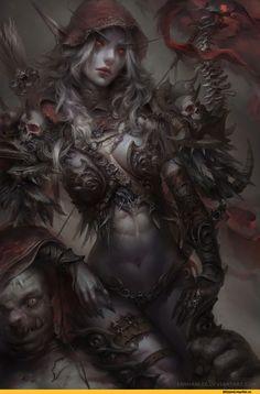 Sylvanas Windrunner,Warcraft,Blizzard,Blizzard Entertainment,фэндомы,Enshanlee,artist,Warcraft art