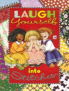 "Mary Engelbreit Magnet ""LAUGH YOURSELF INTO STITCHES"""