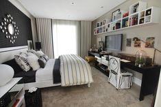 16 quartos cheios de estilo e sofisticação - Casa Girls Bedroom, Master Bedroom, Bedroom Decor, Bedrooms, Desktop Metal, Decoration, Interior Architecture, Small Spaces, Sweet Home