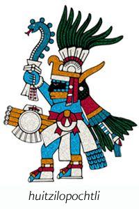 Aztec/Mexica (Huitzilopochtli, the god of war)