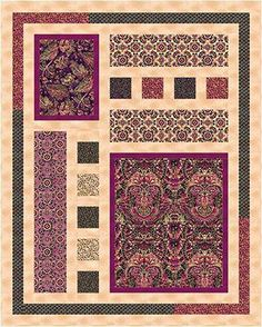 Quilts Made Using Panels Check Out Our Free Limelight Quilt Pattern Using The Collection Balinesia Quilts With Small Panels Quilts Made With Printed Panels