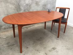 Noblett dining table, teak veneer