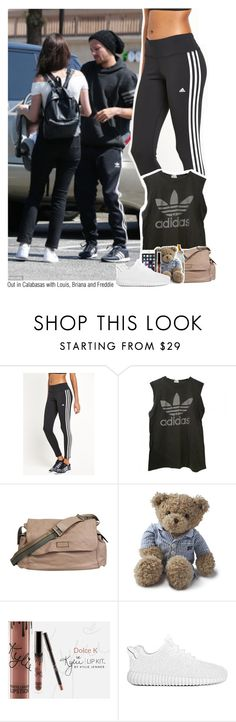 """Out in Calabasas with Louis, Briana, and Freddie"" by sixsensestyles ❤ liked on Polyvore featuring adidas, Gucci and Lexington"