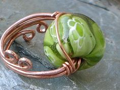 Wire Jewelry Projects | bead ring wire wrapped project tutorial | Wire Wrapped Jewelry