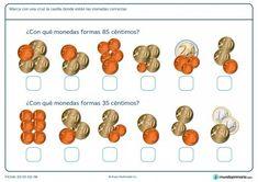 Ficha de calcular céntimos