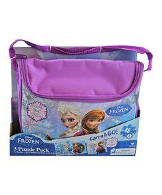 This Frozen Puzzle Purse Set by Frozen is perfect! #zulilyfinds $9.99, regula r15.00