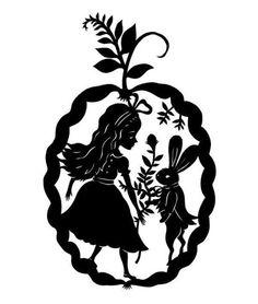 Alice in Wonderland Paper Cut | from elsita