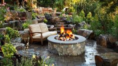 7 Round Firepit Area For Winter Nights In Your Garden Outdoor Spaces, Outdoor Living, Outdoor Decor, Fire Pit Area, Fire Pits, Winter Night, Outdoor Gardens, Patio, Landscape