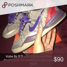Kobe 8s size 5 , only sign of wear is really the beading on the inside of the heel Nike Shoes Sneakers