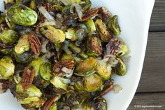 Roasted Brussels Sprouts with Shallots and Pecans - Big Chin Kitchen - Free Paleo Recipes and More. Get the recipe at BigChinKitchen.com