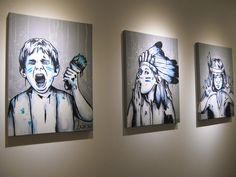 Street Art goes indoors at the Femgraff Group Show at the Lollipop Gallery, Spitalfields.