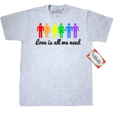 Inktastic Love Is All We Need T-Shirt Rainbow Wins Marriage Equality Gay  Straight Wedding
