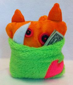 Monster Tooth Fairy Pillow or a fun little pillow just to hide toys and candy!! on Etsy, $10.00