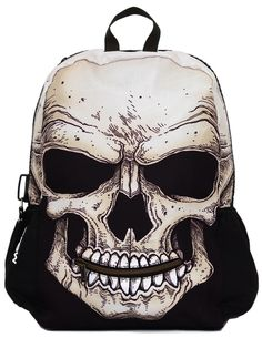 "Good luck finding it, but it is one of a kind!----------""Mr Peterson Skull"" Backpack by Mojo Backpacks (Black).. This is a necessity!"