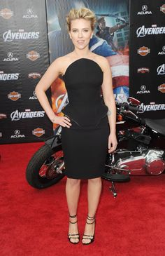 The Best Little Black Dresses of 2012 - Scarlett Johansson in Versace