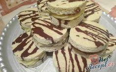 Originální piškotové jednohubky plněné vanilkovým krémem