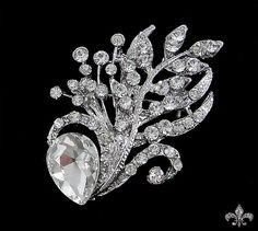 2 1/4 x 1 5/8 inch Rhinestone Brooch Pin  Rhinestone Crystal Brooch  by SupplyWorld, $8.95