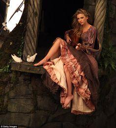Taylor Swift as Rapunzel in Ann Leibovitz Disney Dream Portraits shoots